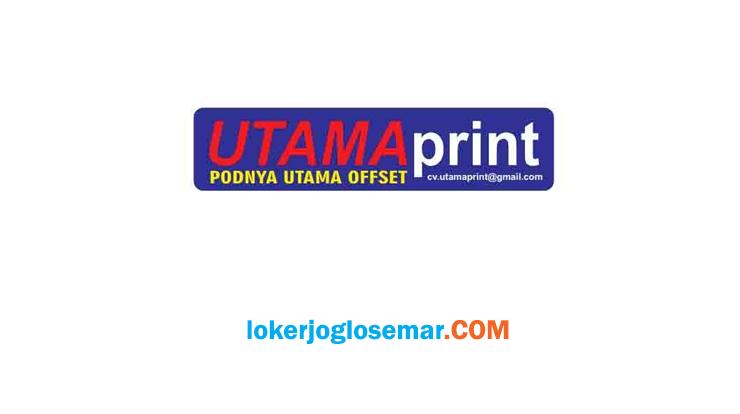 Loker Yogyakarta Operator Mesin Digital Print di Percetakan CV Utama Print