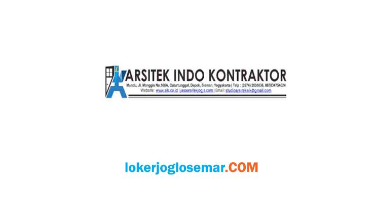 Lowongan Kerja Jogja CV Arsitek Indo Kontraktor September 2020