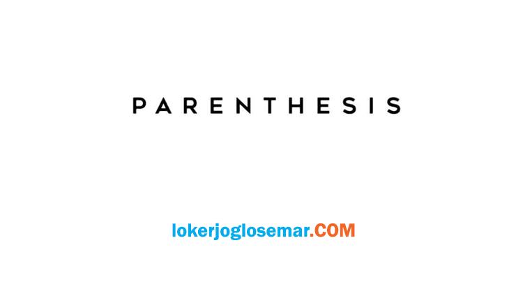 Lowongan Kerja Terbaru Jogja Parenthesis