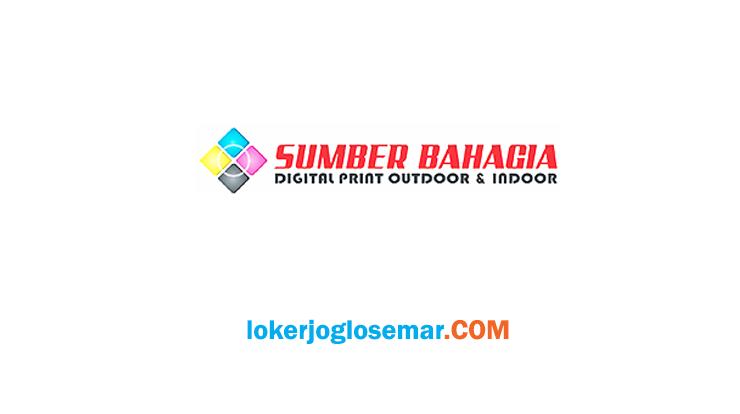 Loker Semarang Bulan Juli 2020 CV Sumber Bahagia Printing