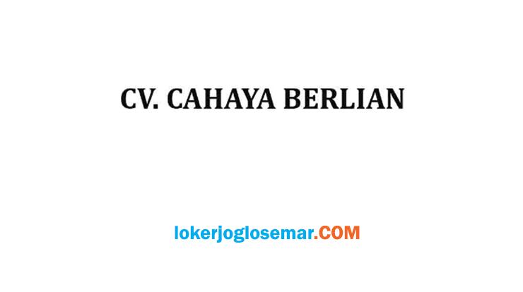 Loker Solo Staff Administrasi Lulusan D3 CV Cahaya Berlian