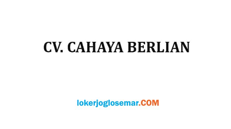 Lowongan Kerja CV Cahaya Berlian Penempatan Semarang Tegal dan Soloraya