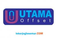 Lowongan Kerja Jogja Agustus 2020 CV Utama Offset