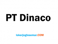 Loker Jateng dan Jatim Oktober 2020 PT Dinaco