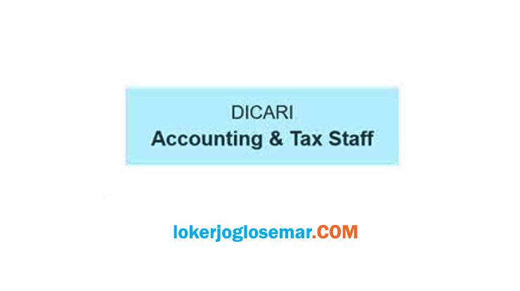 Loker Solo Accounting & Tax Staff Lulusan D3/S1