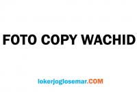 Loker Solo September 2020 Foto Copy Wachid