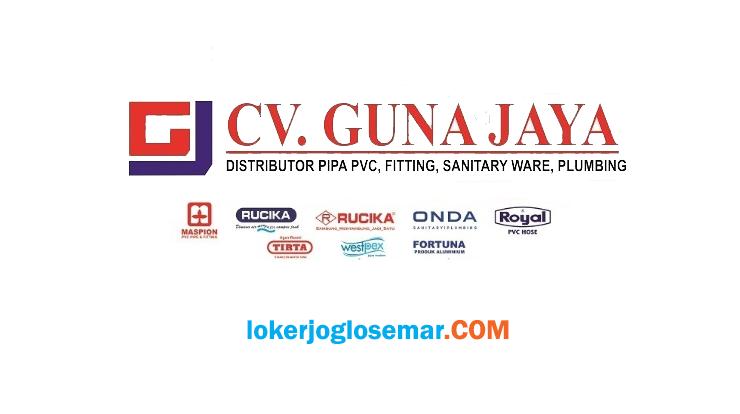 Lowongan Kerja Solo Admin Penjualan CV Guna Jaya
