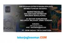 Lowongan Kerja Jawa Tengah Marketing dan Agen PT Semi Indah Tirta Santosa