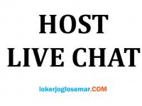 Lowongan Kerja Solo Host Live Chat Mobile Aplikasi Host