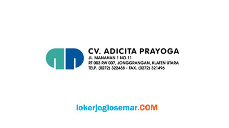 Loker Klaten November 2020 CV Adicita Prayoga