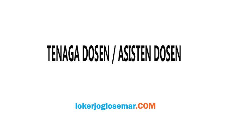 Loker Tenaga Dosen/Asisten Dosen Lulusan S1/S2 di Semarang