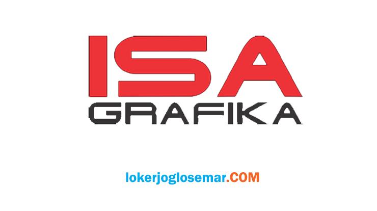 Lowongan Kerja Semarang CV Isa Grafika Bulan November 2020
