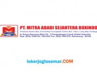 Lowongan Kerja Semarang PT Mitra Abadi Sejahtera Boxindo