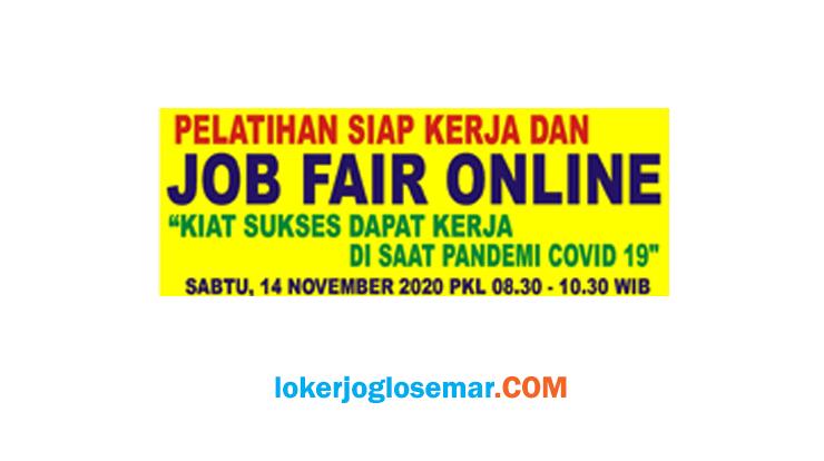 Pelatihan Siap Kerja dan Job Fair Online III Tanggal 14 November 2020 Semarang