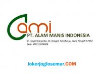 Loker Wonogiri Maintenance Transportasi dan Boiler di PT Alam Manis Indonesia