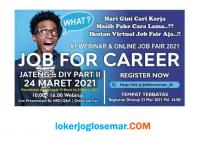 Job Fair Online Jateng DIY 2021 Via Zoom by Jobforcareer
