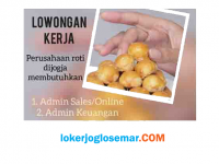 Loker Admin Sales dan Admin Keuangan Perusahaan Roti di Jogja