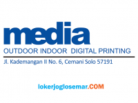 Loker Solo Tenaga Finishing di Media Digital Printing